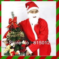 Wholesale 10pcs/lot Christmas installation christmas clothes christmas hat - santa clothes Men 5 piece set  free shipping