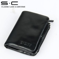 hot sale top quality S.C Free Shipping man wallet+ 100% cow leather Man's Wallet/wallet wholesale/leather wallet man nice gift