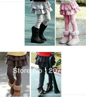 free shipping wholesale girls 100% cotton winter skirt pant thick legging girls double thick trousers