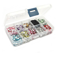 AAA Quality 5MM 1000pcs 10Colors Nail Art Acrylic rhinestone Decoration,Flat back acrylic nail art setting