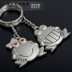 Small home hippo1 frog couple key chain gift male key chain key ring(China (Mainland))