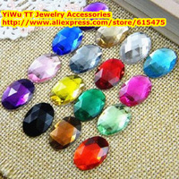 13*18mm 136pcs/pack,17colors Oval Acrylic Rhinestones,Superior Taiwan Acrylic crystal Flat Back Rhinestones,Jewelry accessories