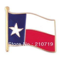 Newest Best Selling Hot Selling High Quality Texas State Flag Pin(China (Mainland))
