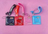 Free shipping, 10pcs/lot, Wholesale hello kitty condoms mobile phone Strap/ keychain Pendant
