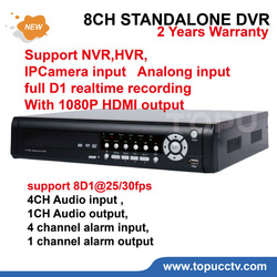 Free Shipping 8CH DVR stand alone video Recorder 1CH HDMI Output 8D1@25/30fps Full D1 Realtime Recording NVR CCTV DVR TP-3008E(China (Mainland))