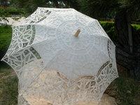 Battenburg / white / Lace Parasol Umbrella Wedding Bridal