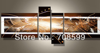Factory sell 4pcs/set group abstract paintings  Home decoration  High Quality  Guaranteed 100% Handpainted  Oil Painting