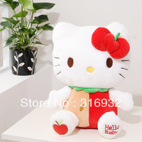 J1 Free Shipping 48cm Big Apple Hello Kitty Plush Toy, super cute, Christmas gift 1pc