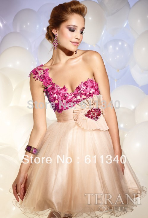 2013 Hot sale Short bridal gown Cocktail party Prom formal Bridesmaid wedding everning dress Custom size A-426(China (Mainland))