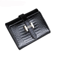 Japanned leather women's genuine leather wallet female short design cowhide women's wallet women's bag day clutch bag