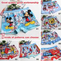 100% cotton boy cartoon underwear, children's /baby Briefs, boxer shorts fit 3-10 yrs,12pcs/lot, free shipping