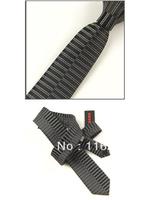 6 cm black dark gray transverse stripe special design man leisure narrow tie