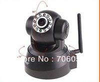 Free Shipping Black 10 IR LED Wireless PTZ Dual Audio IP Security Wifi Camera E73