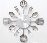 Individuality creative wall clock, Kitchen Restaurant  Decoration Mute wall clock