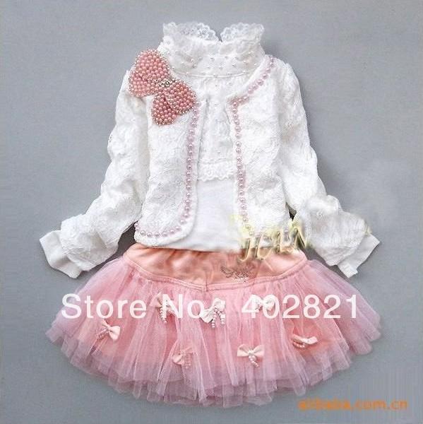 retail-girls-lace-suit-kids-t-shirt-skir
