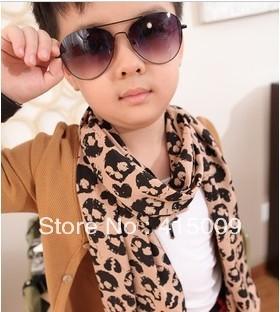 1pcs/bag 2012 new classical fashion chiffon skeleton head scarf for children