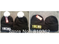 YMCMB Beanie with pom,winter skullies, Acrylic materail  beanies 25pcs/lot  mixed order  caps/hats