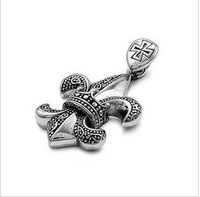 316L stainless steel pendant - anchor pendant retro punk rock fashion pendants-BWP-00011