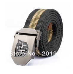 Free shipping,Brand:BAIEKU Men&#39;s Zinc Alloy Strengthen Metal Canvas Belt,casual strap, all-match,thickening,Length:112CM,7colors(China (Mainland))