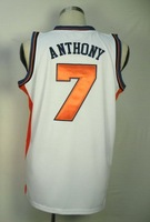 #7 Carmelo Anthony Men's Authentic Home White Basketball Jersey