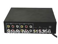 Free shipping drop shipping 220V 1 input 4 output 104VA AV RCA Amplifier Splitter