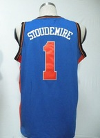#1 Amar'e Stoudemire Men's Authentic Road Blue Basketball Jersey