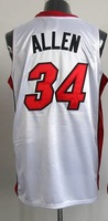 #34 Ray Allen Men's Authentic Home White Basketball Jersey