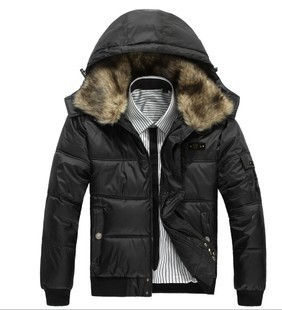 3 Colors, 2012 Men's Fur Collar Korean Winter Coat Men's Winter Short Jacket
