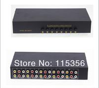 S82VA Metal Shell 8road in 2road out manual switcher AV RCA Selector Switch Splitter