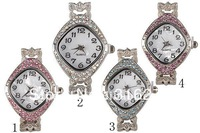 Free Shipping! 5pcs Quartz Movement Rhinestones Watch Face LVF75