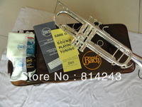 Copy the baja BachLT180S-37 small instruments surface silver brass instruments Bb trumpet