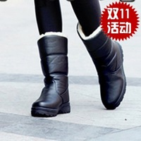 free shipping 5 colors Snow boots waterproof platform medium-leg boots women's shoes boots