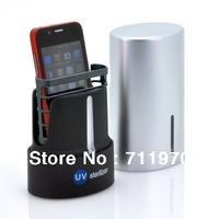 Free Shipping UV Cell Phone Sanitizer for iPhone,Blackberry,iPod,Smart Phones,MP3 Players,Bluetooth Headsets,Earbuds
