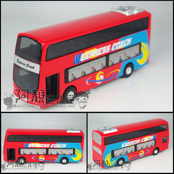 Alloy car toy car model special double layer bus