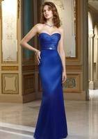 Fashion Elegance Custom-made satin Floor-length   evening dress HM004