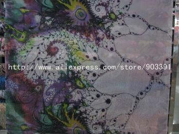 Hot Sales100% Pure Silk Symbol Printed Chiffon Fabric Material C1263