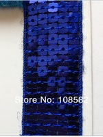 60yards/Lot Non-stretch  Sequin 326# Royal Blue  25mm Sequin Ribbon Trim Flat Spangle Lace Shining Clothing Decoration Necklace