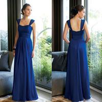 Free shipping New fashion Formal Evening dress blue long design one piece dress Celebration dresses Customized High quality