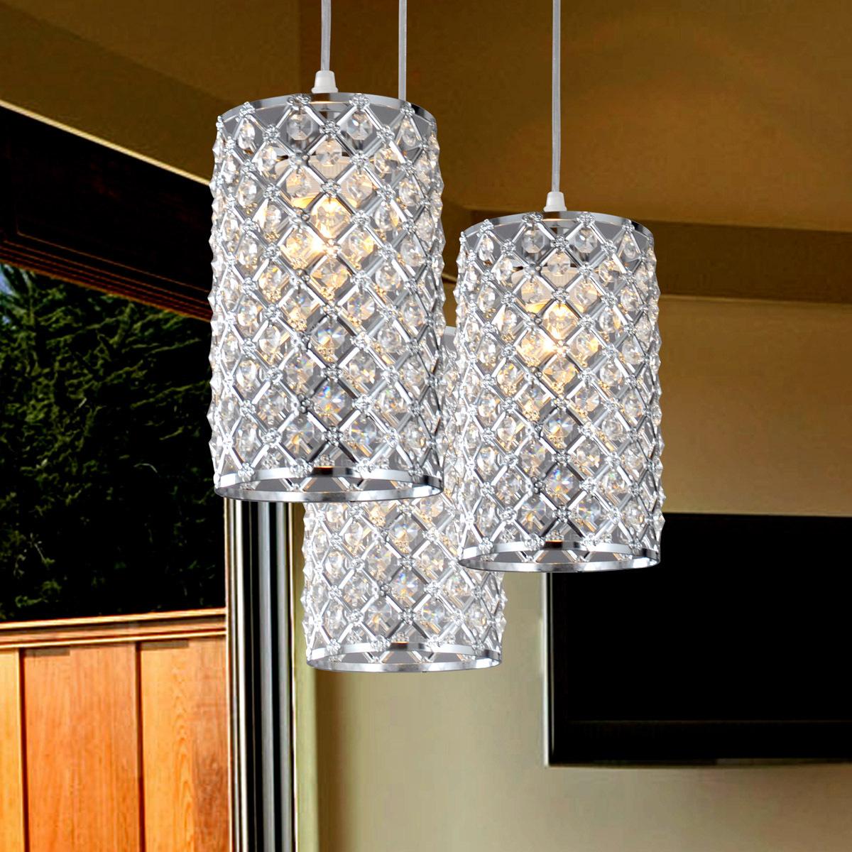 Crystal Pendant Lights Over Kitchen Island 1200 x 1200