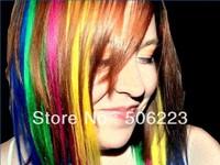 12 colors optional light-up hair Extension 120 pcs straight colorful clip in hair extension/piece