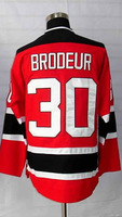 #30 Martin Brodeur Men's Authentic Home Red Hockey Jersey