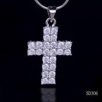 Christmas gift  Huge Unisex Beautiful Cross Blue Fire Opal 925 Sterling Silver Pendants fashion jewelry