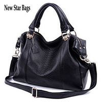 New Star Bags first layer of cowhide embossed crocodile pattern genuine leather women's handbag  shoulder chain  bags  N946