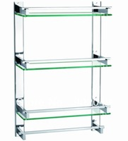 Triple Tier with bar Discount Bathroom Accessories KL-GT553F (60cm) Commodity Shelf Glass Stainless Steel Tray Single Tier