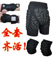Skiing flanchard set skiing hip pad knee pad wrist support palm protection/3 pcs/free shipping