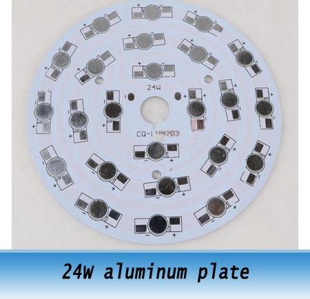24W LED Aluminum Plate Heat Sink High power LED lamp circuit board 108mm diameter 10pcs(China (Mainland))