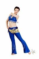 Belly dance set costume silver 400 huazhung rhinestones boot cut