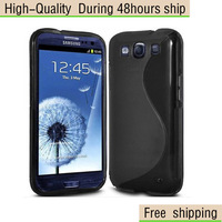 New Soft TPU Gel S line Skin Cover Case For  Samsung Galaxy S III S3 i9300  Free Shipping UPS DHL EMS HKPAM CPAM