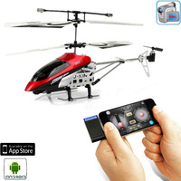 iPhone & Android Control 3CH Helicopter with Video Camera and Gyro -Red(2GB)