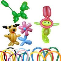 Free shiiping Magic balloon pearlizing thickening slitless balloon long animal  diy balloon   200pcs/lot